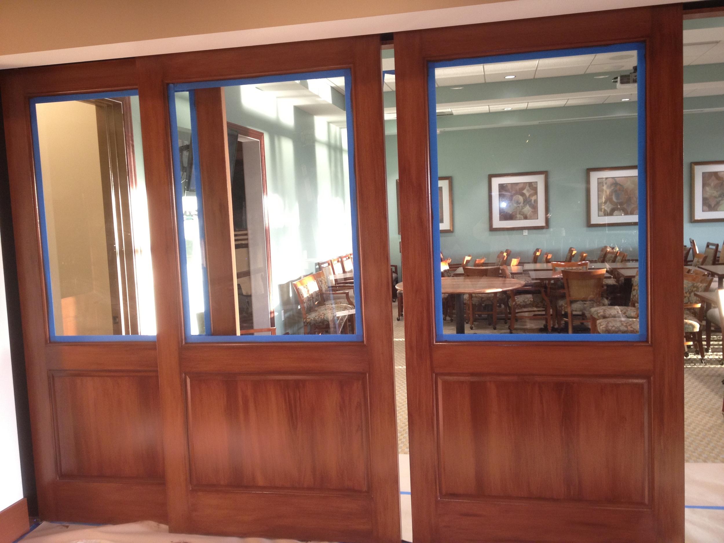 Faux Wood Doors (After) Sprin Ridge Golf Country Club (3).JPG