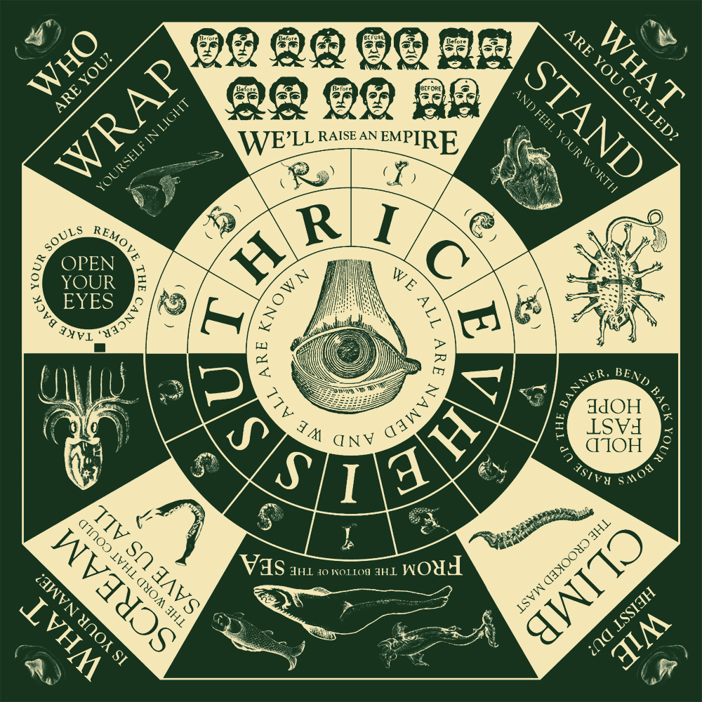"""Vheissu"" by Thrice. Artwork created by Author Dave Eggers and Artist Brian McMullen"