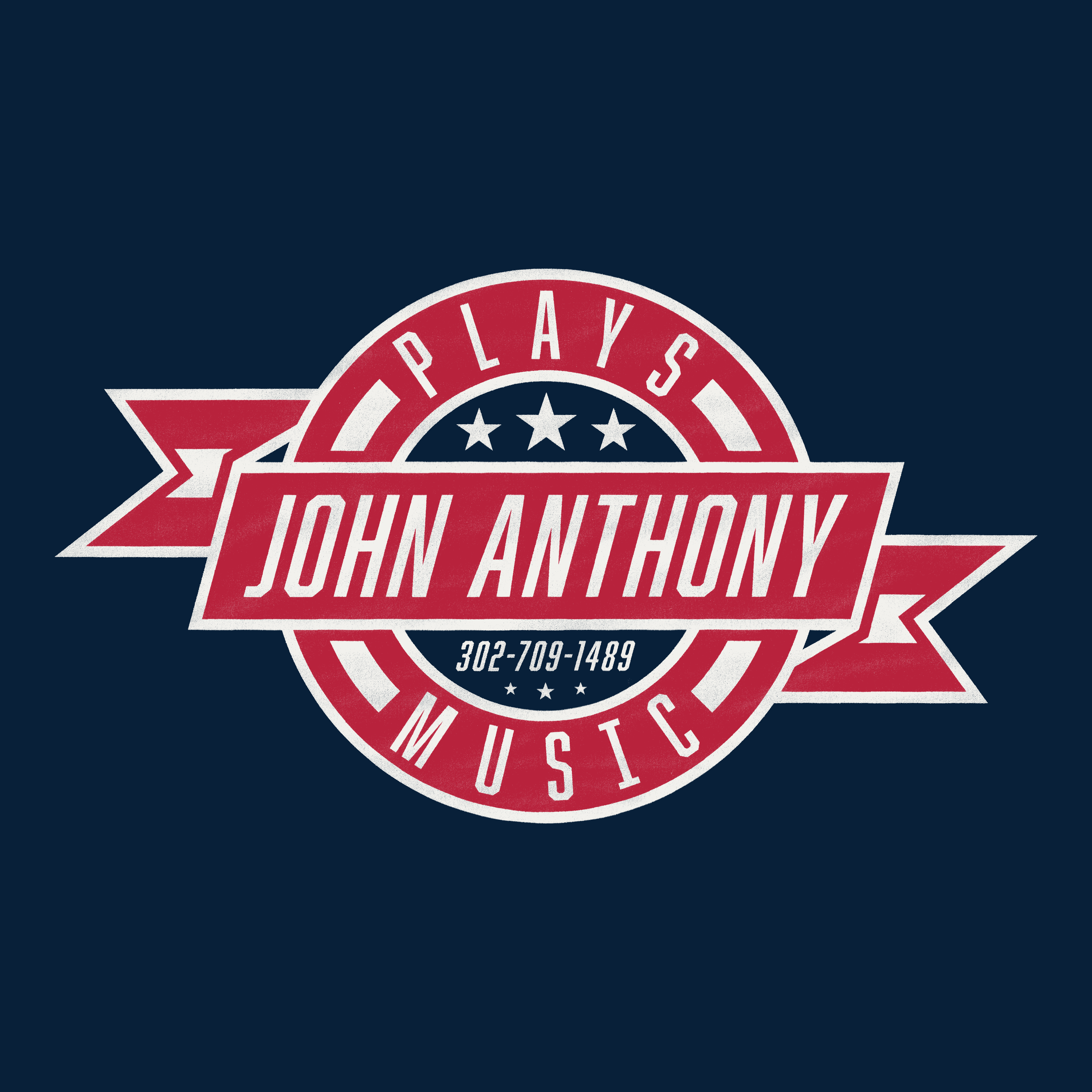 John Anthony Plays Music - Emblem Logo Designveteran owned entertainment Companyspecializing in performances for retirees