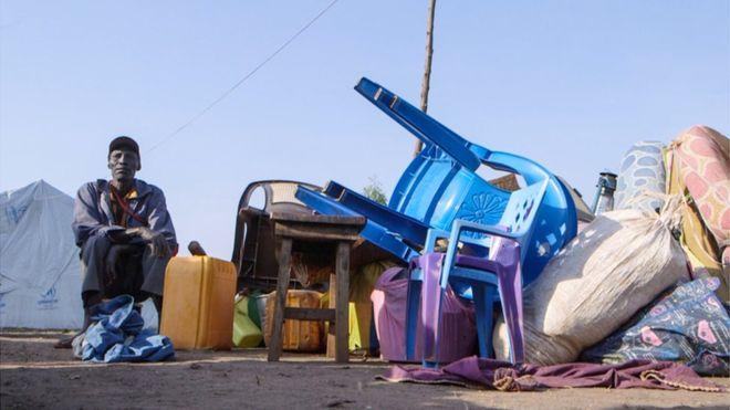 Refugees end up in settlements in Uganda. (AP)