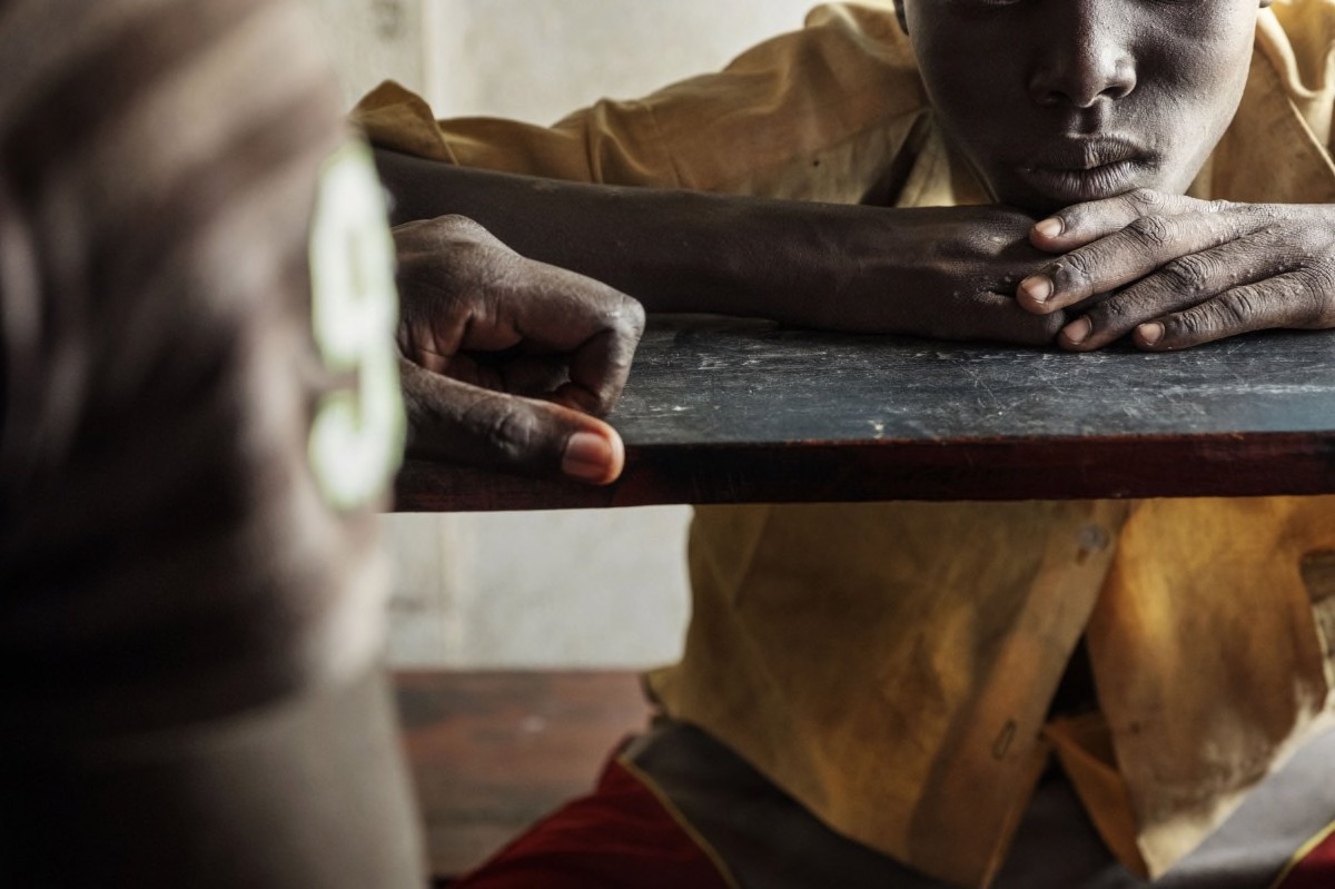 Marko Maze, 13, is one of the young former fighters who attends The Pibor Boys Primary School, which hosts former child soldiers. Photo by Peter Bauza