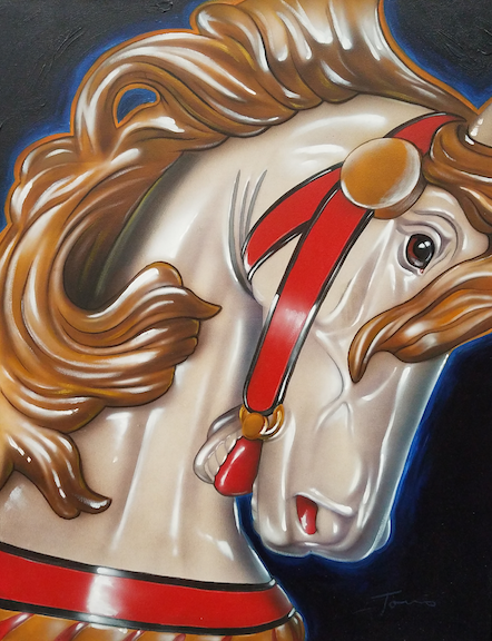 Galloping White Horse #1