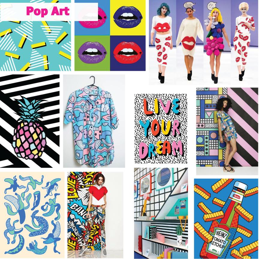 Pop Art Moodboard