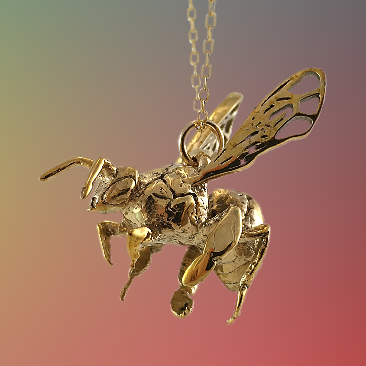 WESTERN HONEY BEE PENDANT