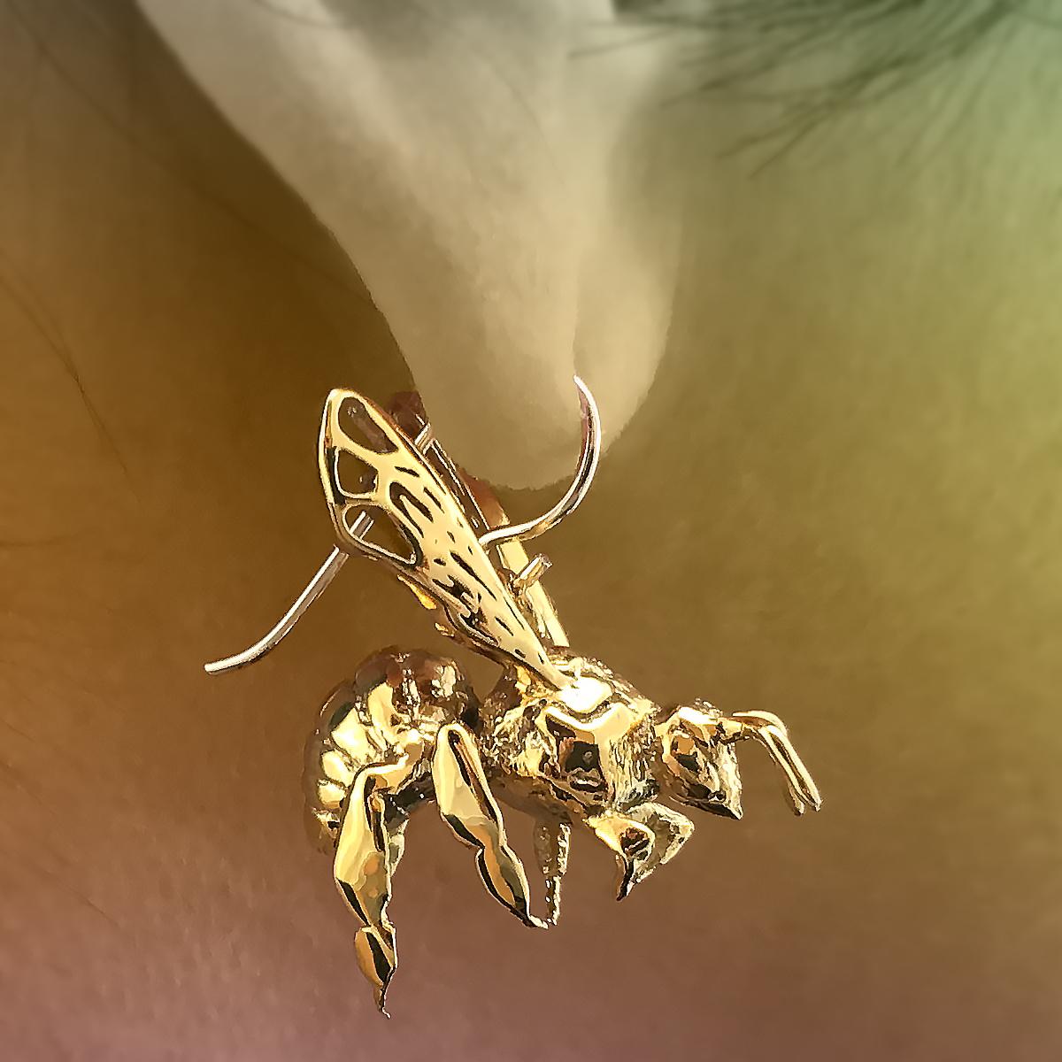 Western Honey Bee Earrings