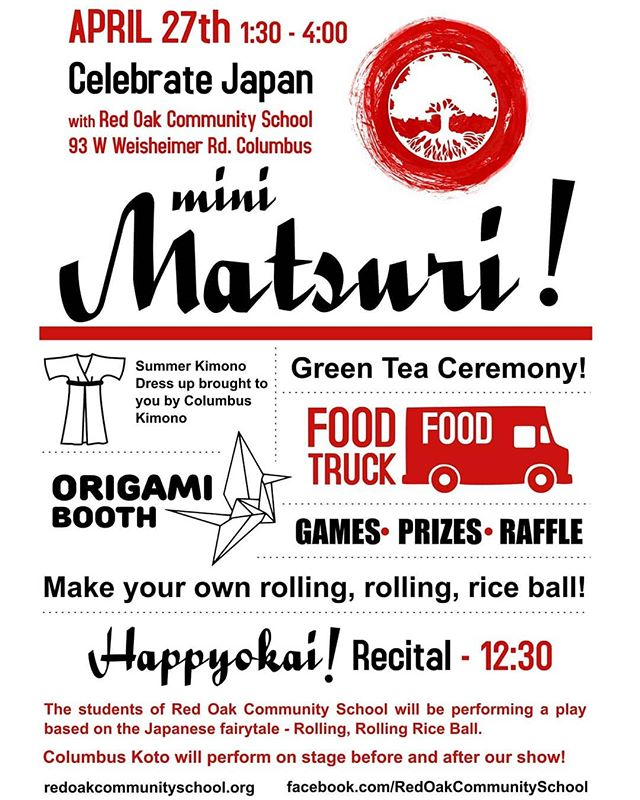 Hey local peeps wanna do something fun and different tomorrow?! Well then join us at Red Oak and enjoy our Mini Matsuri festival!