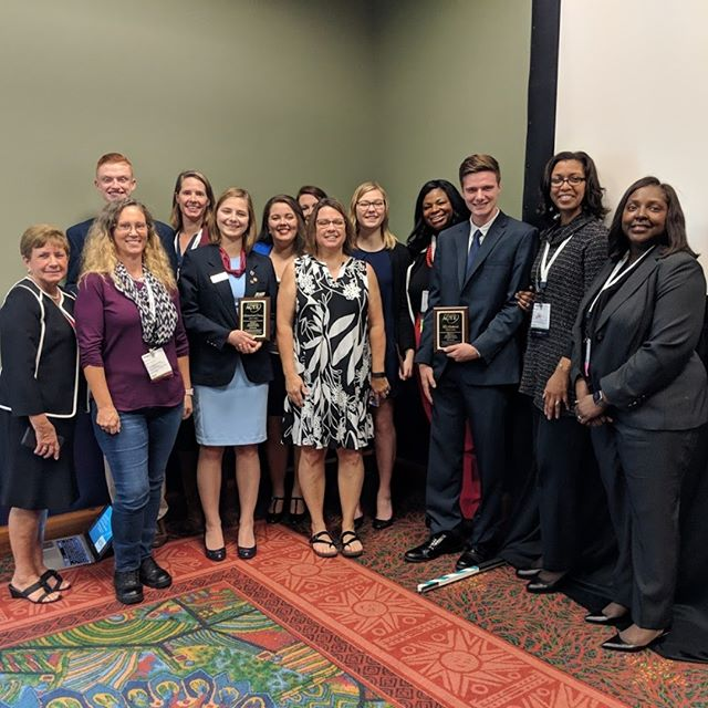 Thank you to all the advisers, parents, and administrators that advise, mentor, and support FBLA-PBL students. FBLA members Galadriel Coury, Garett Koch, and Ty Rickard and PBL members Allyssa Covert and Abi Sheen received ACTE Outstanding Business Student awards at the @actecareerteched  VISION 2018 conference. Congratulations! #CareerTechVision #VISIONCTE18