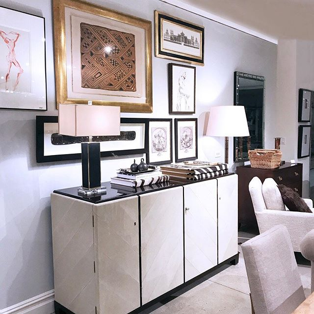 Easily the showstopper in the showroom last night - Can you get enough of the leather chevron? I. Can't. #newtrads2017 #centuryfurniture #ajennisoninteriors #watchmework @centuryfurniture @traditionalhome