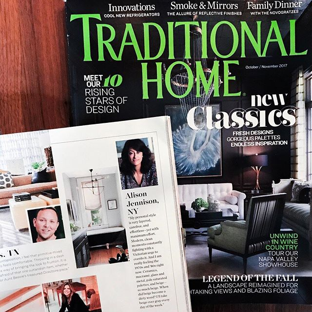 Fewer things as exciting as recognition from the amazing team @traditionalhome well that and seeing yourself in print... And it's been an amazing few days spent with an amazing group of designers to boot. #newtrads2017 #traditionalhome #ajennisoninteriors #watchmework
