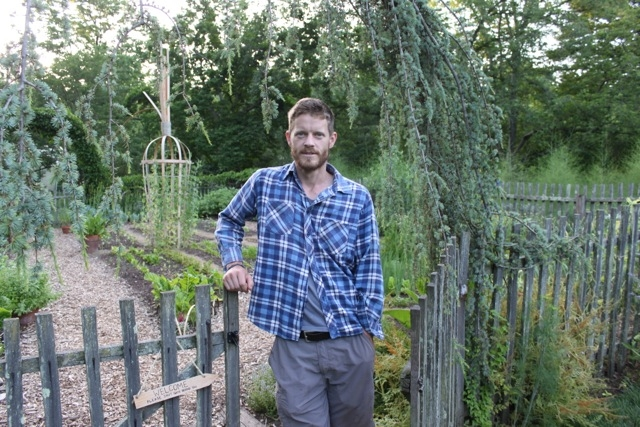 This is Ben, in front of his creation. His love was always ornamental horticulture, but found growing crops to be rewarding while providing actual sustenance. Growing vegetables is a way to slow down and be more mindful in the garden, while saving a few dollars in the process.