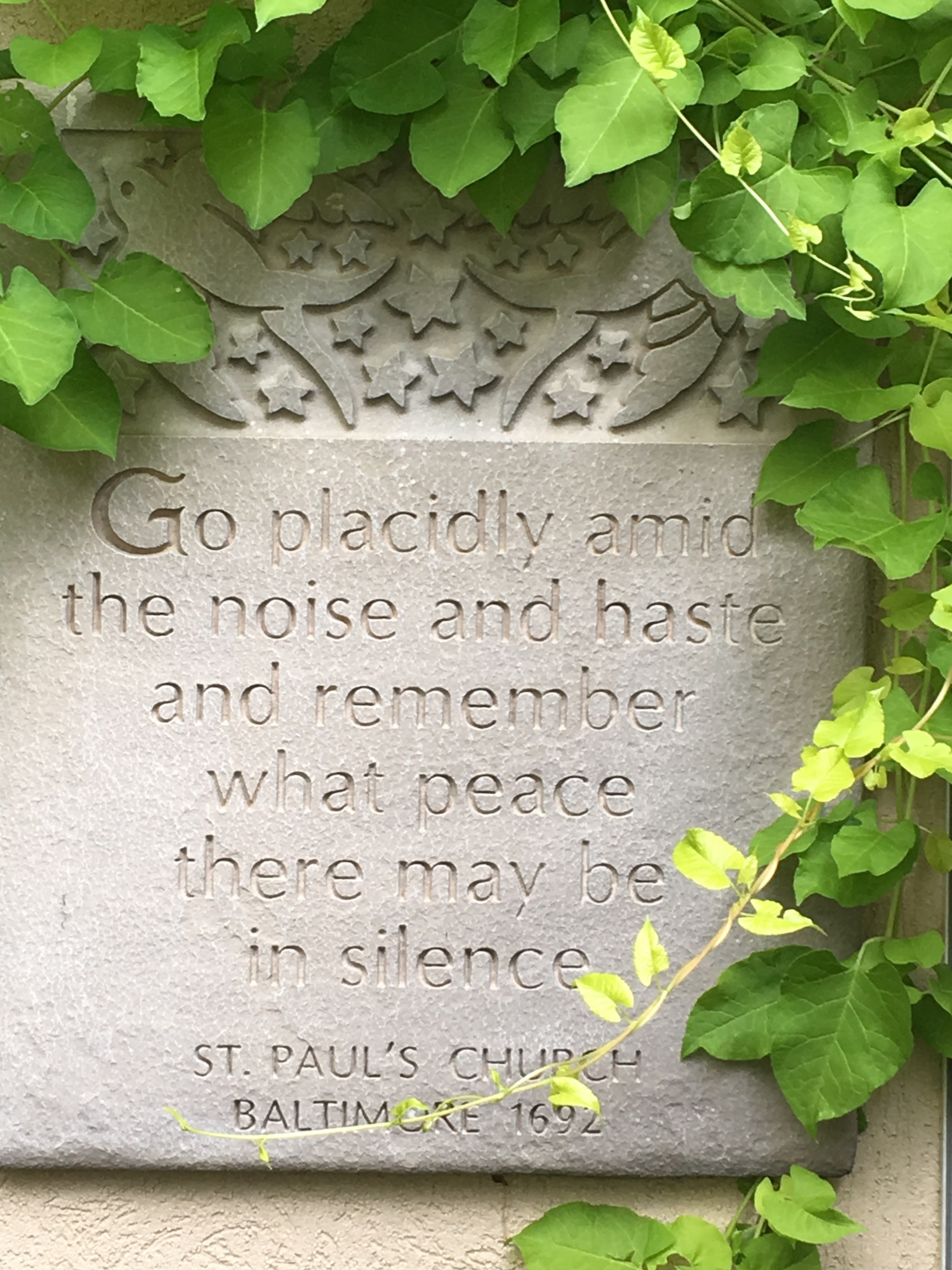 A favorite plaque tucked into a quiet corner.