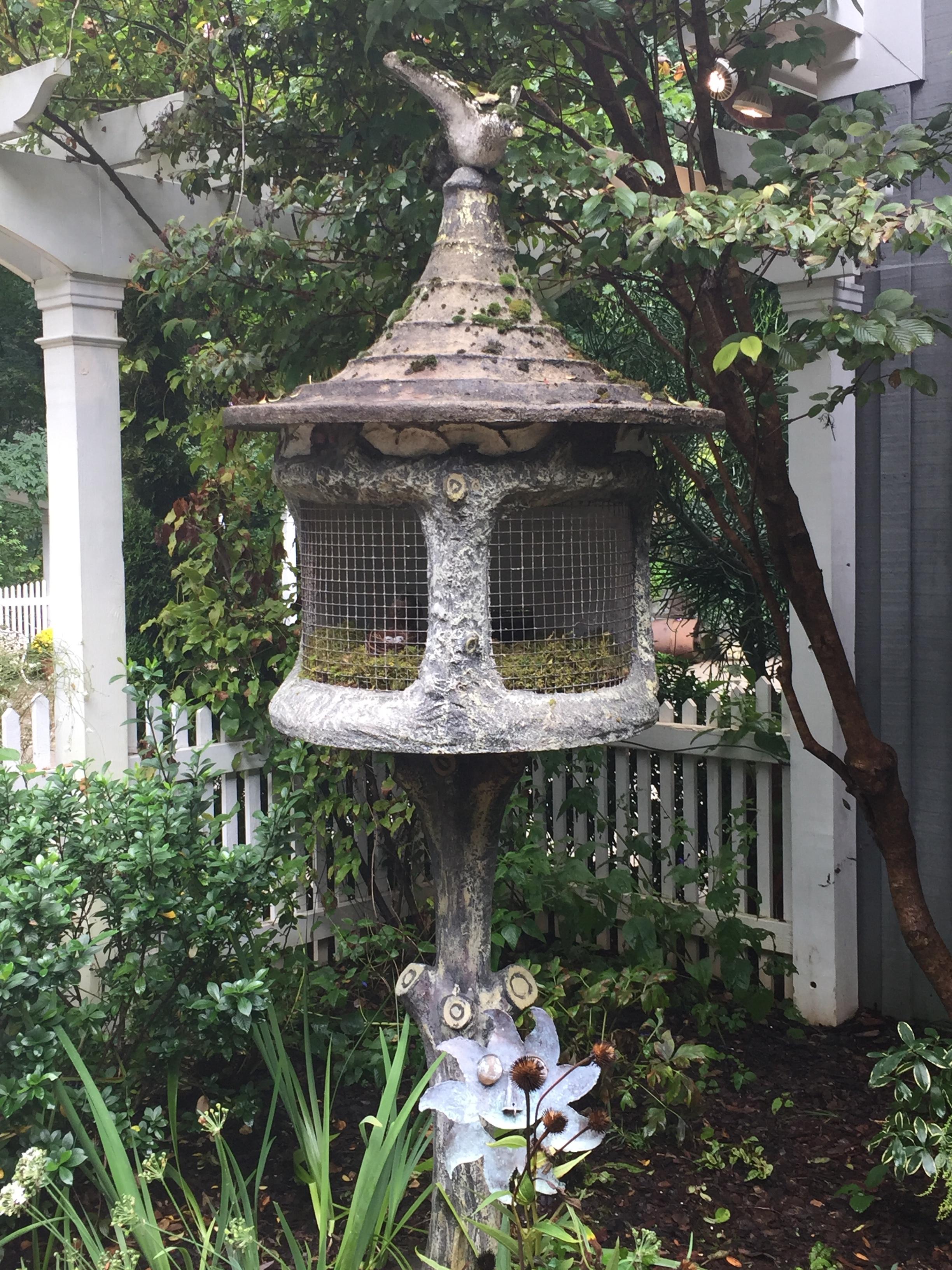 Birdhouses housed some live birds!
