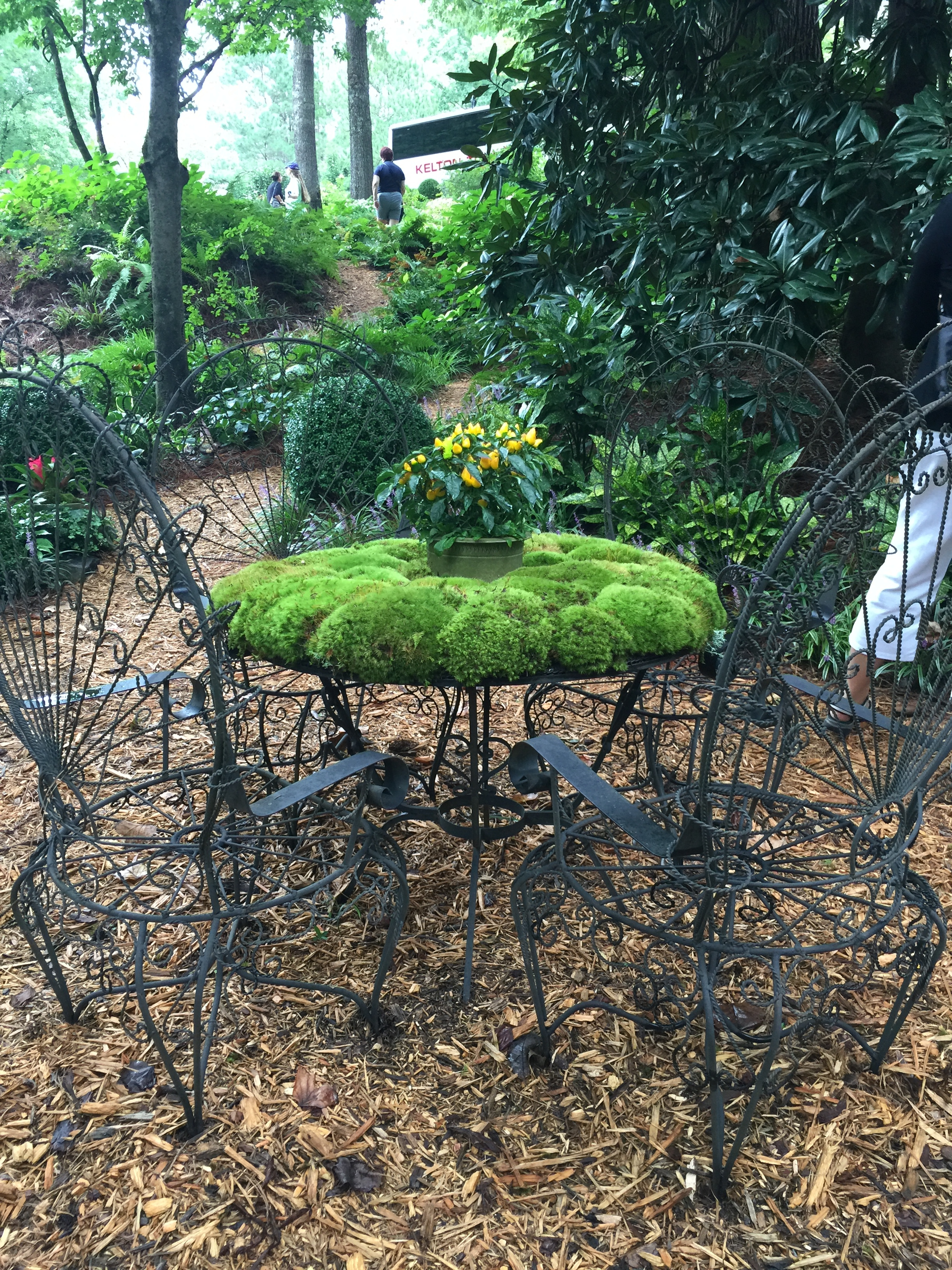 Whimsy was a big part of every garden, with gardeners getting very creative and fun even in the most formal spaces.