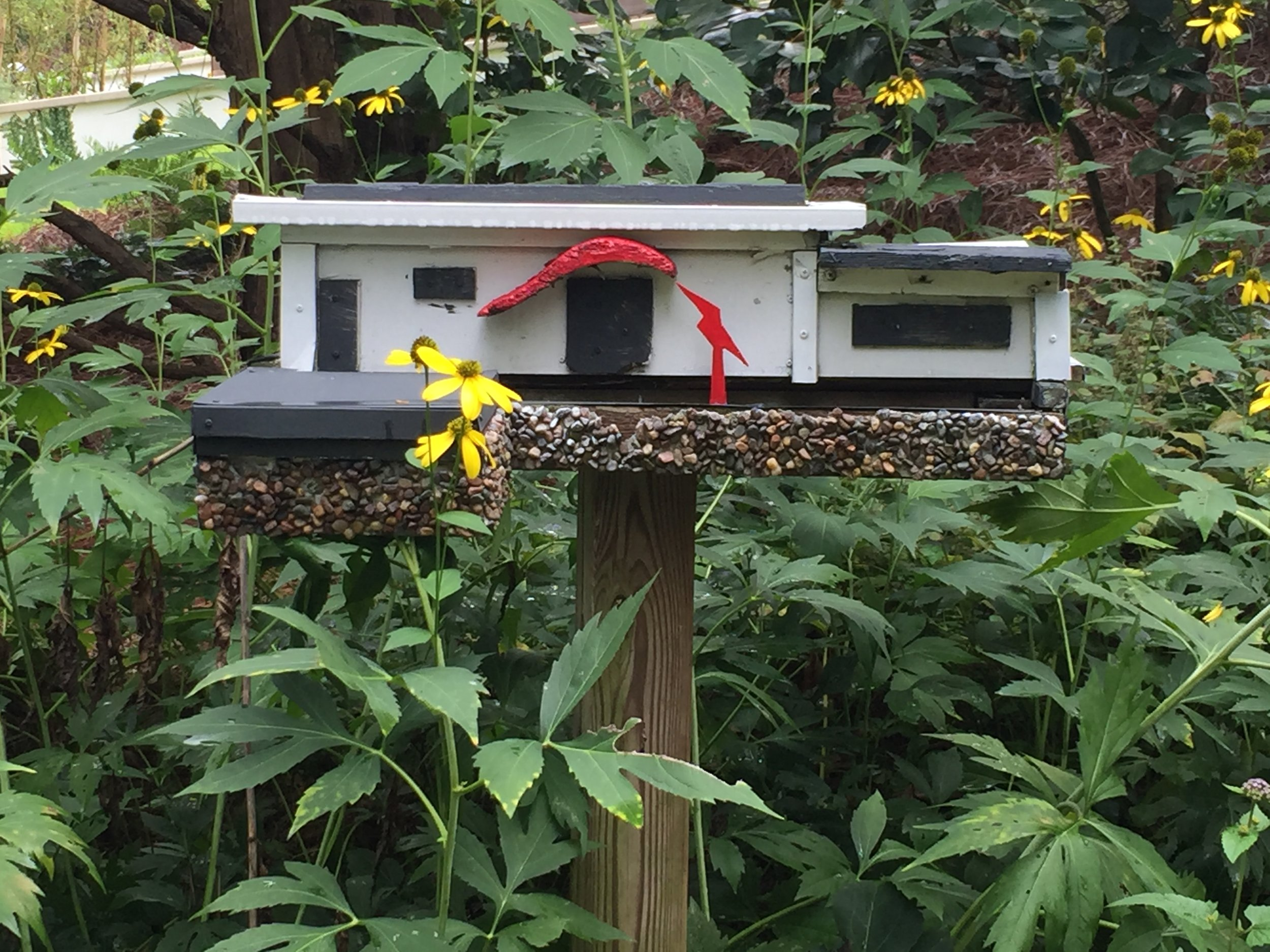 Every bird house had some style.