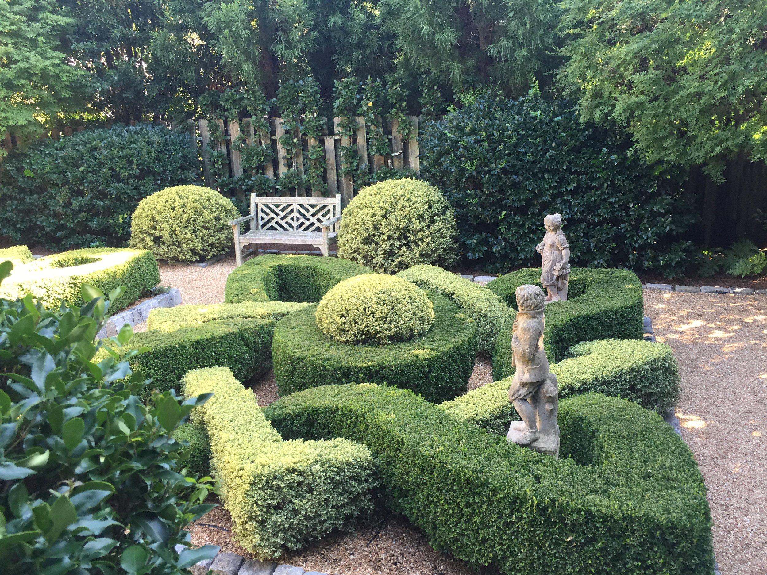 Long view of knot garden.