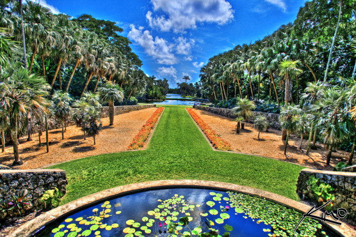 Water is a primary feature among the gardens at Fairchild.