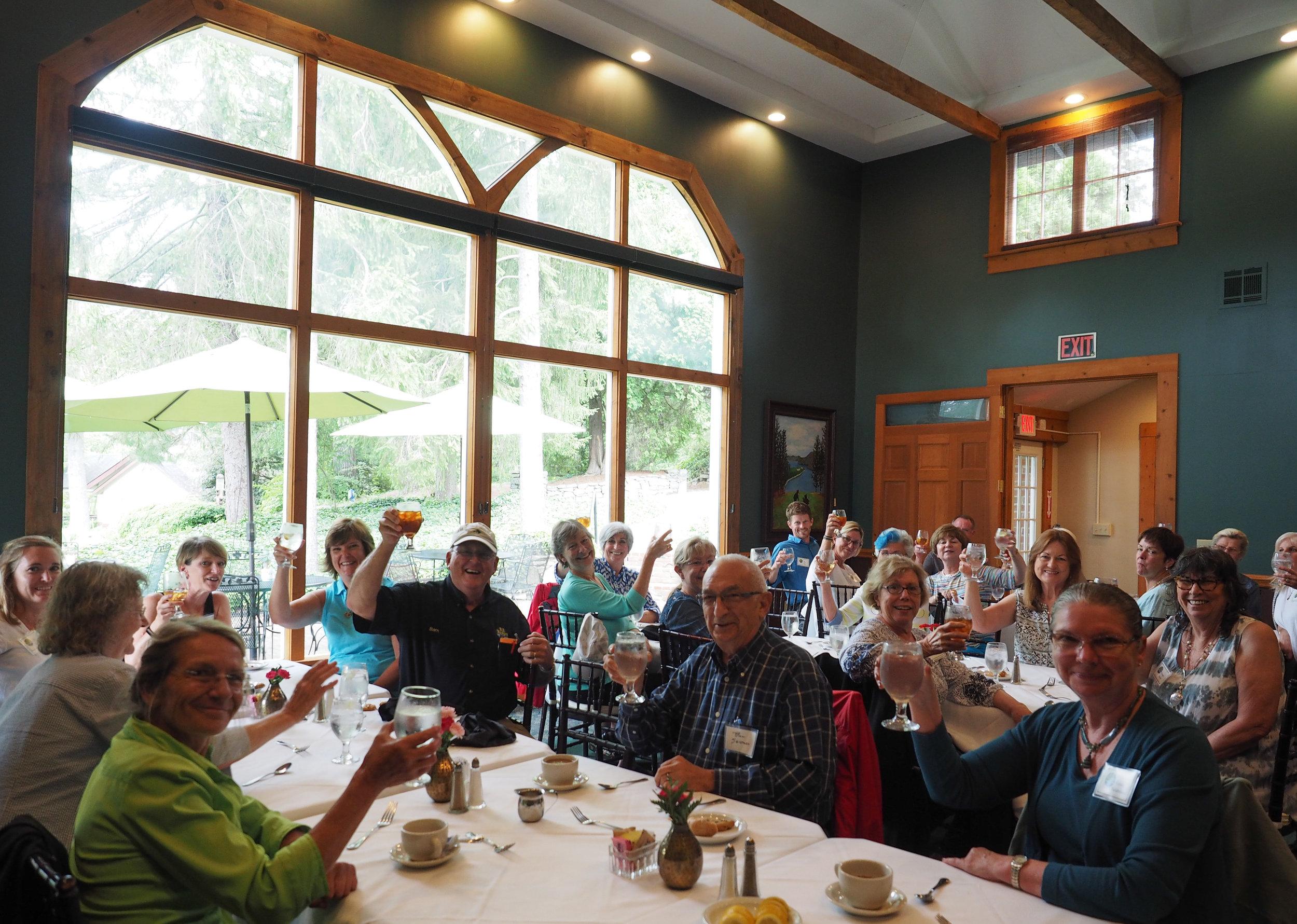 Lunch at Highland Lake Inn.