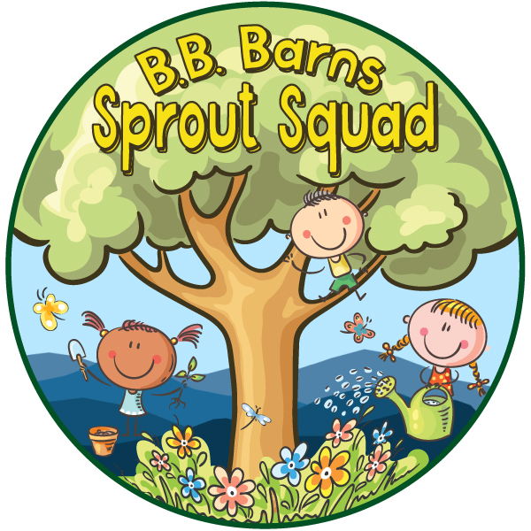 Sprout Squad has it's own logo. Look for t-shirts soon!