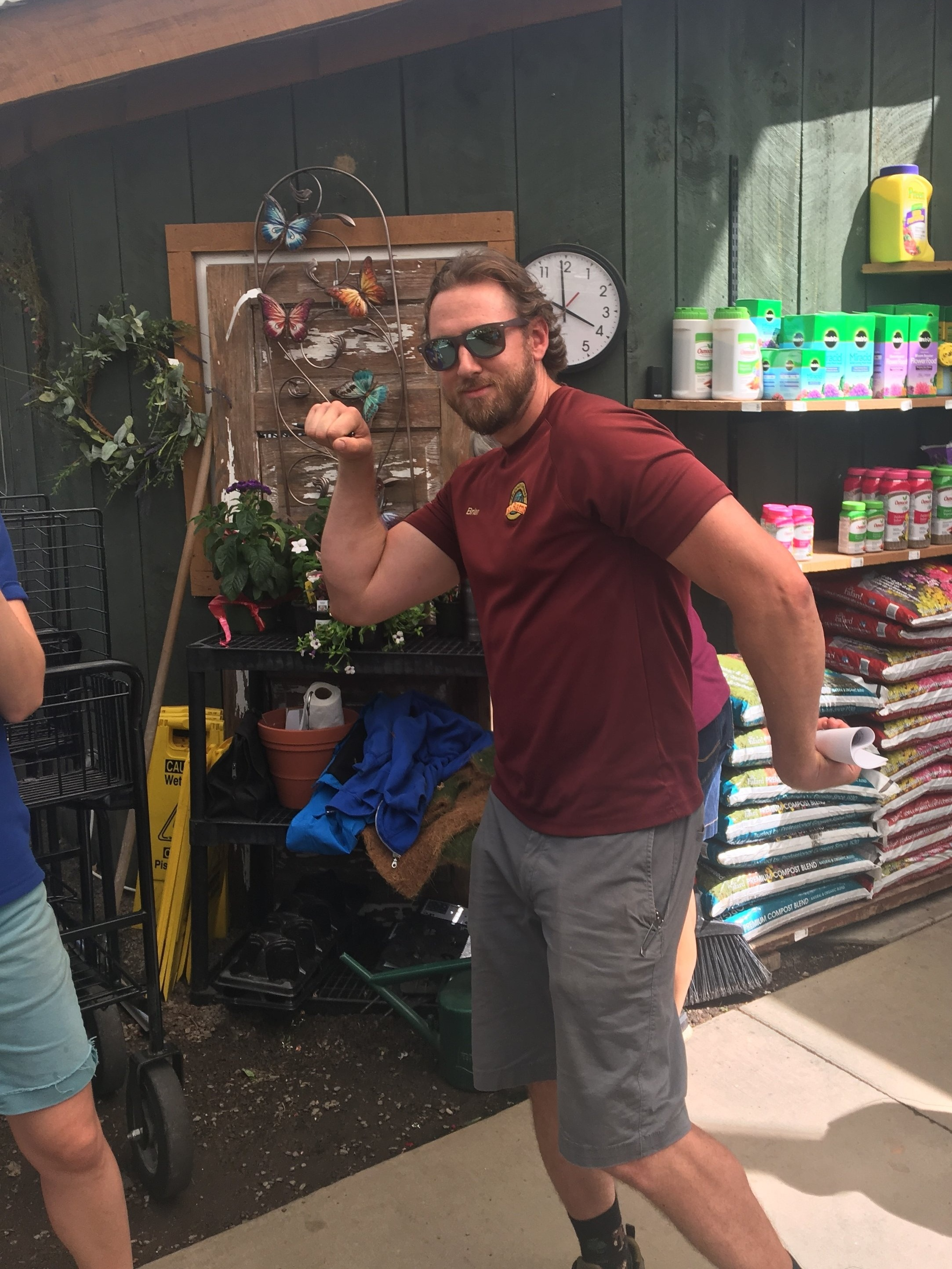 Brian Jennings, our annuals buyer. Always the goofball, but happy to answer your questions about annuals and help you pick out the right ones for your garden.