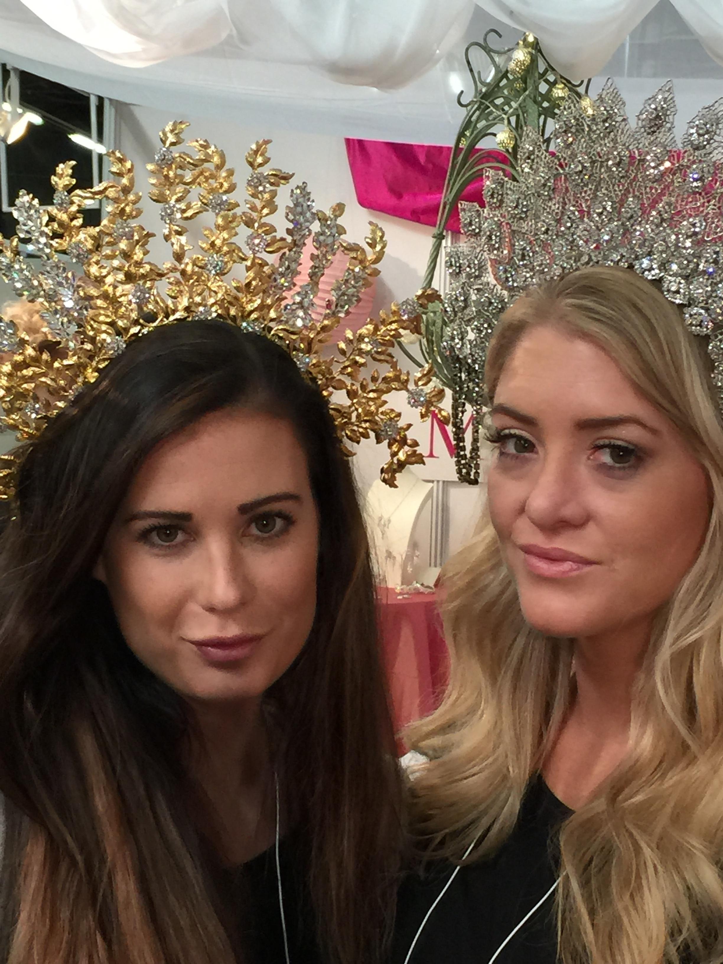 Kara Leonard and Morgan Bolen pose in Ellen Hunter NYC headpieces fit for a queen!