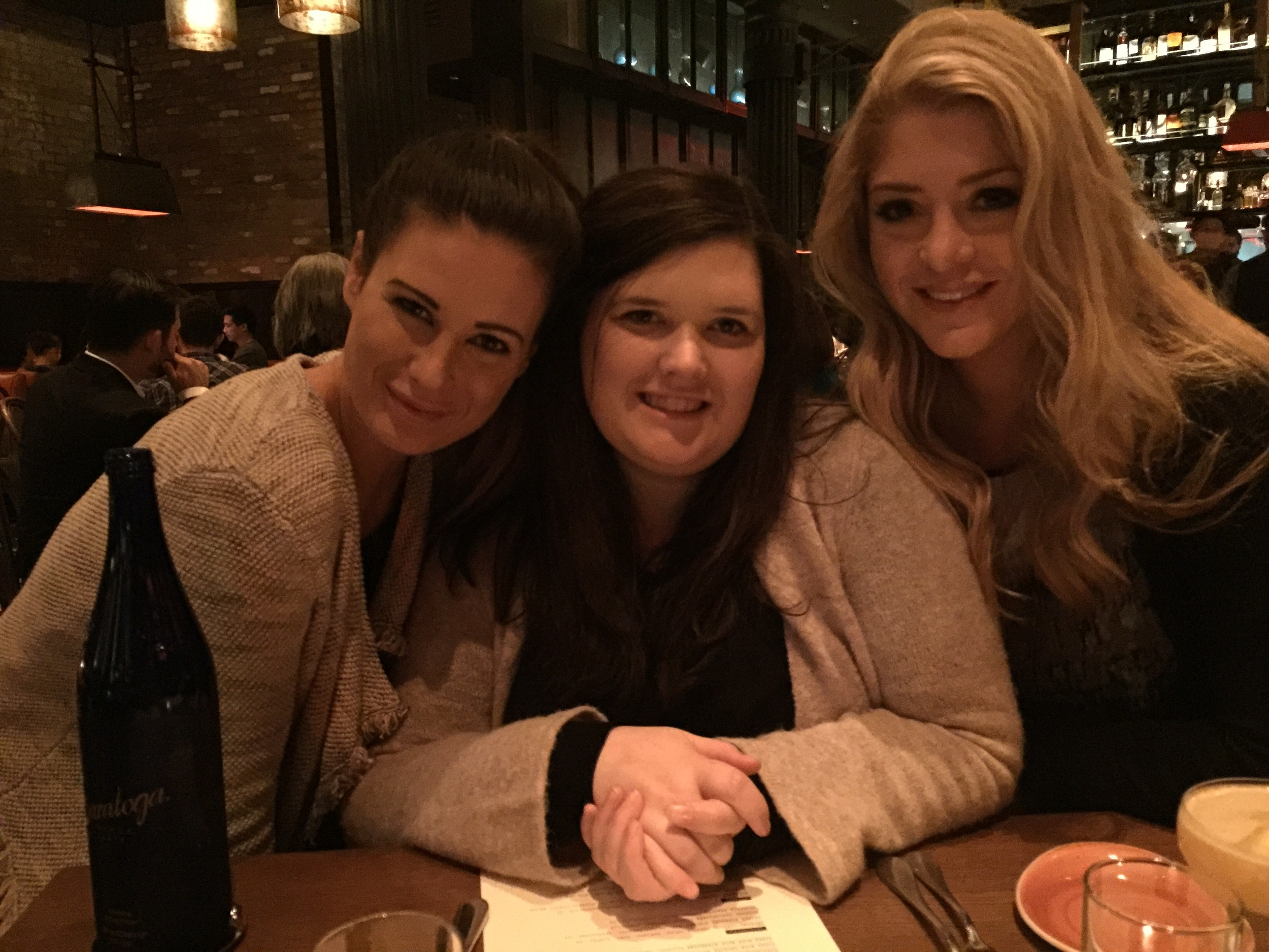Kara, Ella and Morgan. iPhone photo by Teresa Leonard.