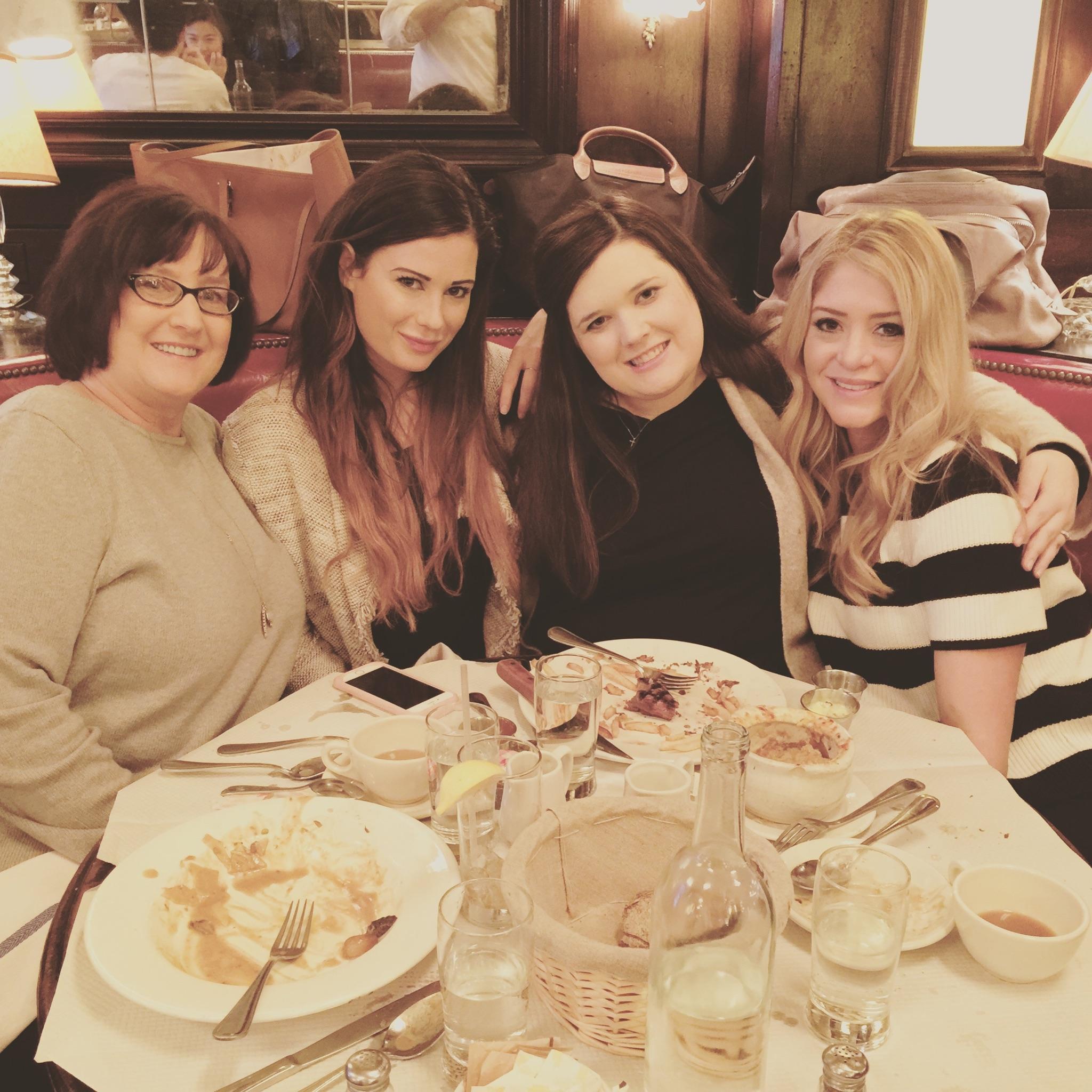 Teresa, Kara, Ella, and Morgan. iPhone photo via Teresa Leonard.
