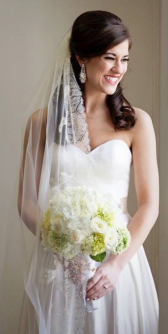 Real Bride, Katie Taylor, in Audrey. Photo via Lisa M Photography.