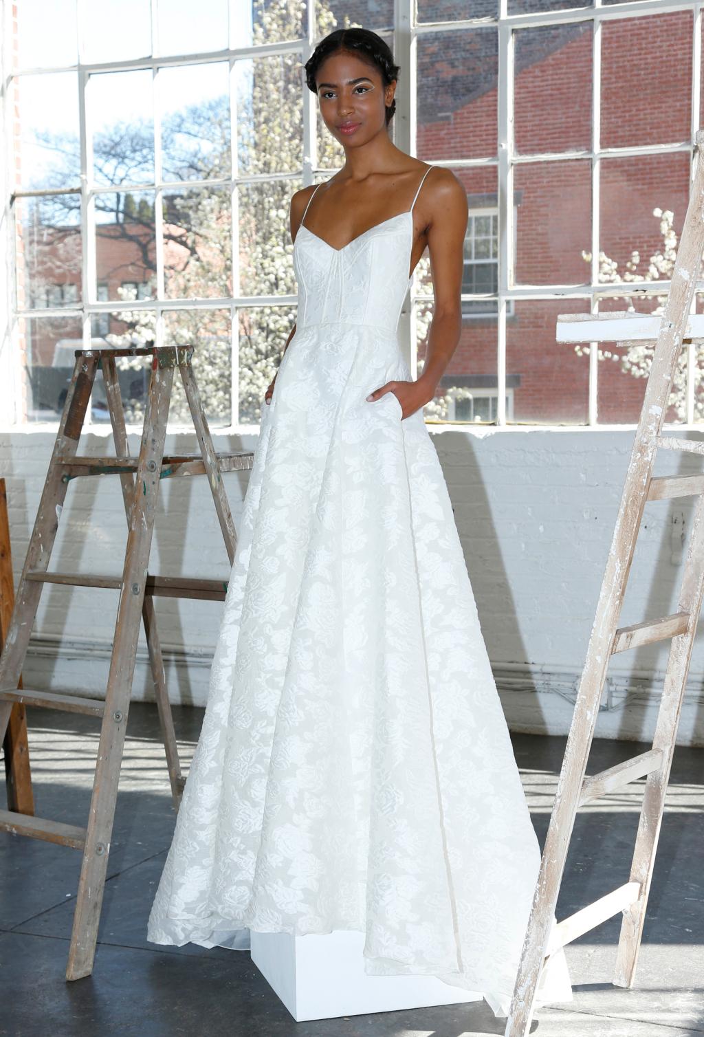 Lela Rose Bridal Gown available via our Nashville Bridal Boutique.Photo via Thomas Iannaccone.