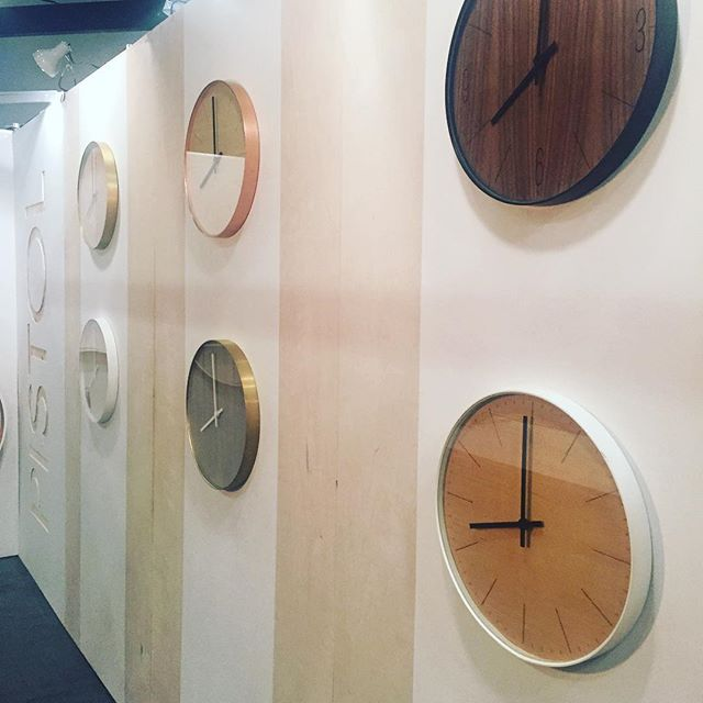 Successful day at IDS West. Big thanks to those who stopped by! #yvrdesign #bespoke #pistolbespoke #artisan #time #clocks #idswest