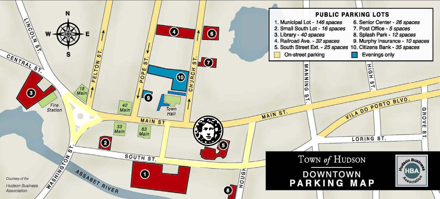 Click on the Hudson Downtown Parking Map for details about parking in Hudson.
