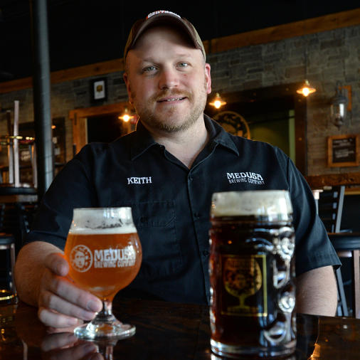 Co-founder and Head Brewer Keith Antul.  Credit: Christopher Evans