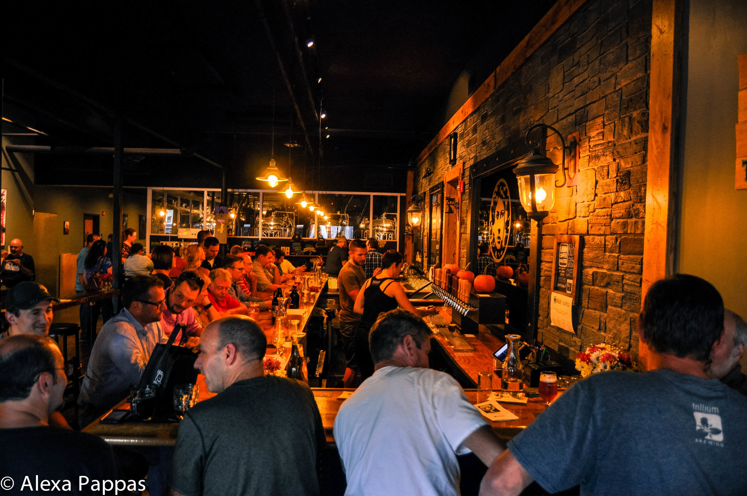 The bustling scene during the release night of Black Ale Project in Medusa Brewing Company's taproom.  Photo by Alexa Pappas