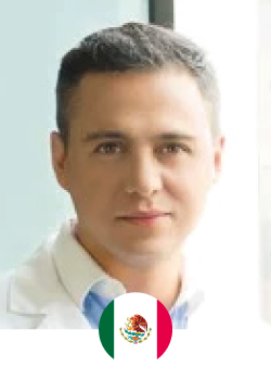 Plastic surgeon trained at the National Autonomous University of Mexico at the General Hospital of Mexico, has made stays abroad as Kentucky, Miami, Colombia and Brazil where he learned techniques performed in these areas including reconstructive procedures and specialized surgery on body contouring. He has participated and presented different works obtained in surgeries in different congresses and hospitals.