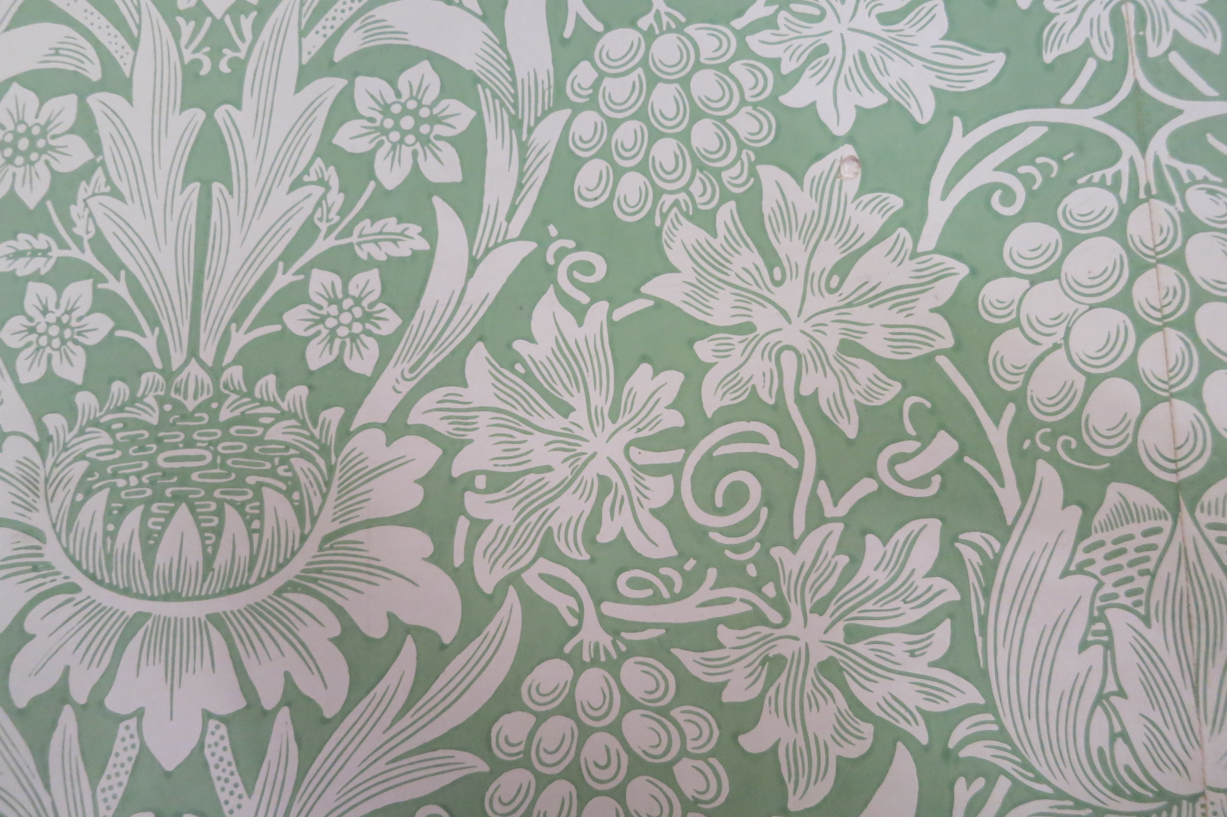 William Morris wallpaper in his 'Red House'
