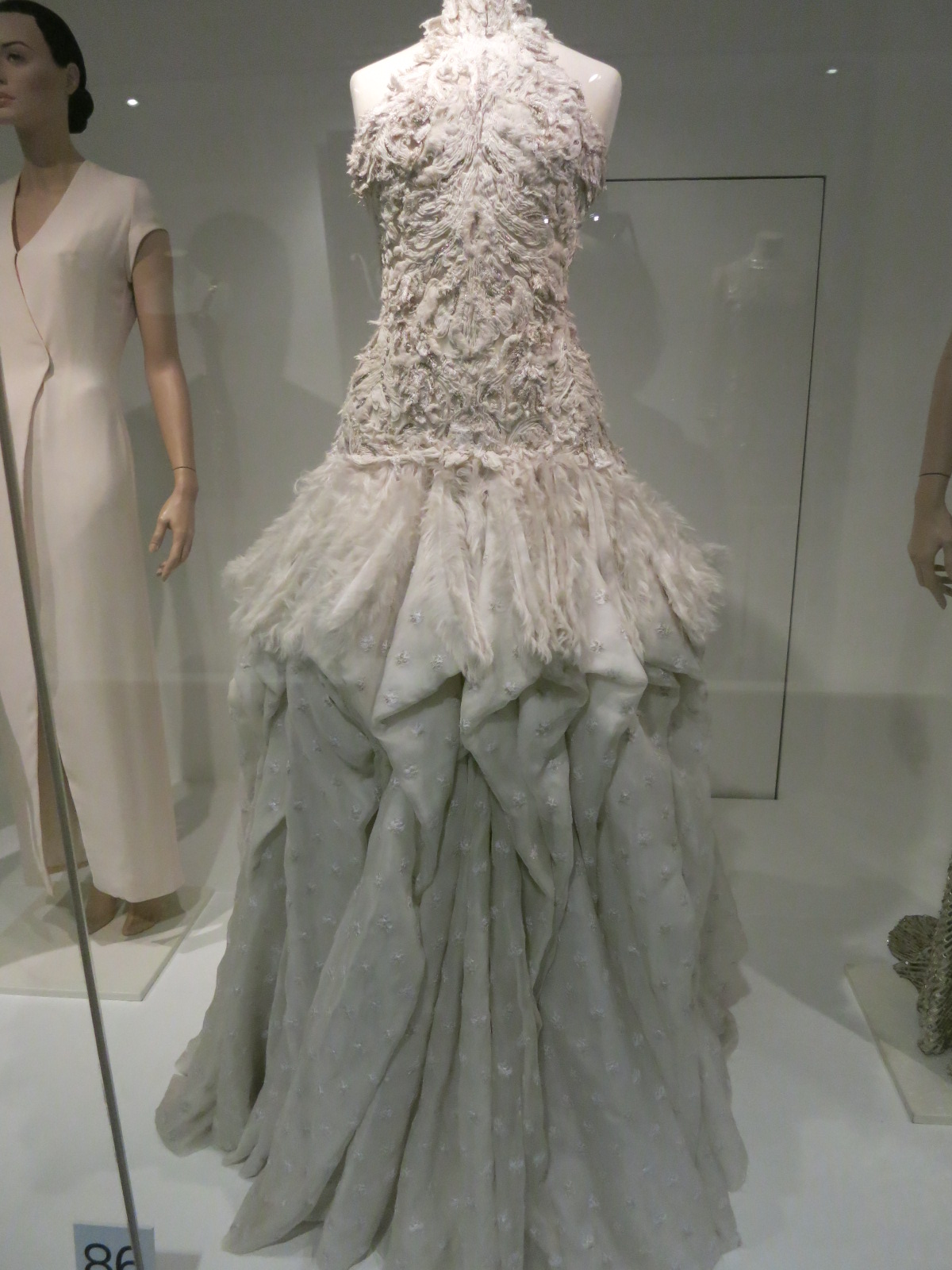 'Dress of the Year' Bath Fashion Museum - this gown designed by Sarah Burton for Alexander McQueen was the 'Dress of the Year' in 2011
