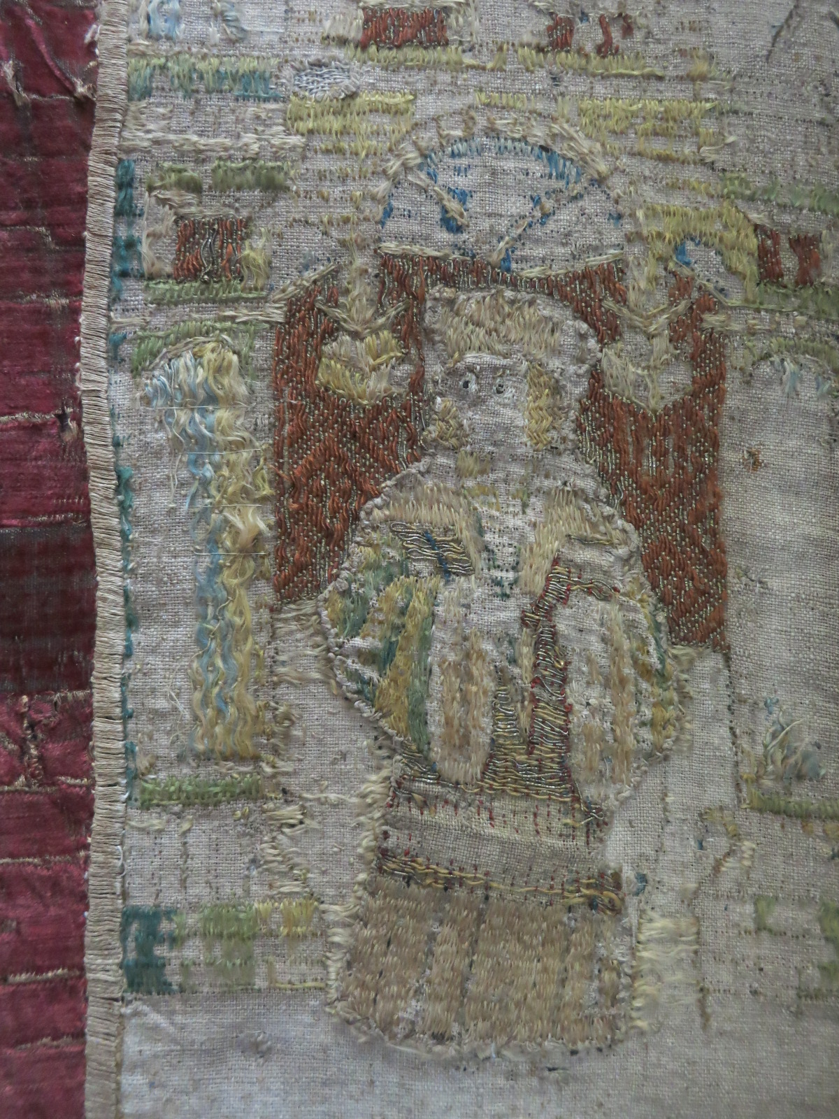 A saint on the orphrey of the Skenfrith Cope