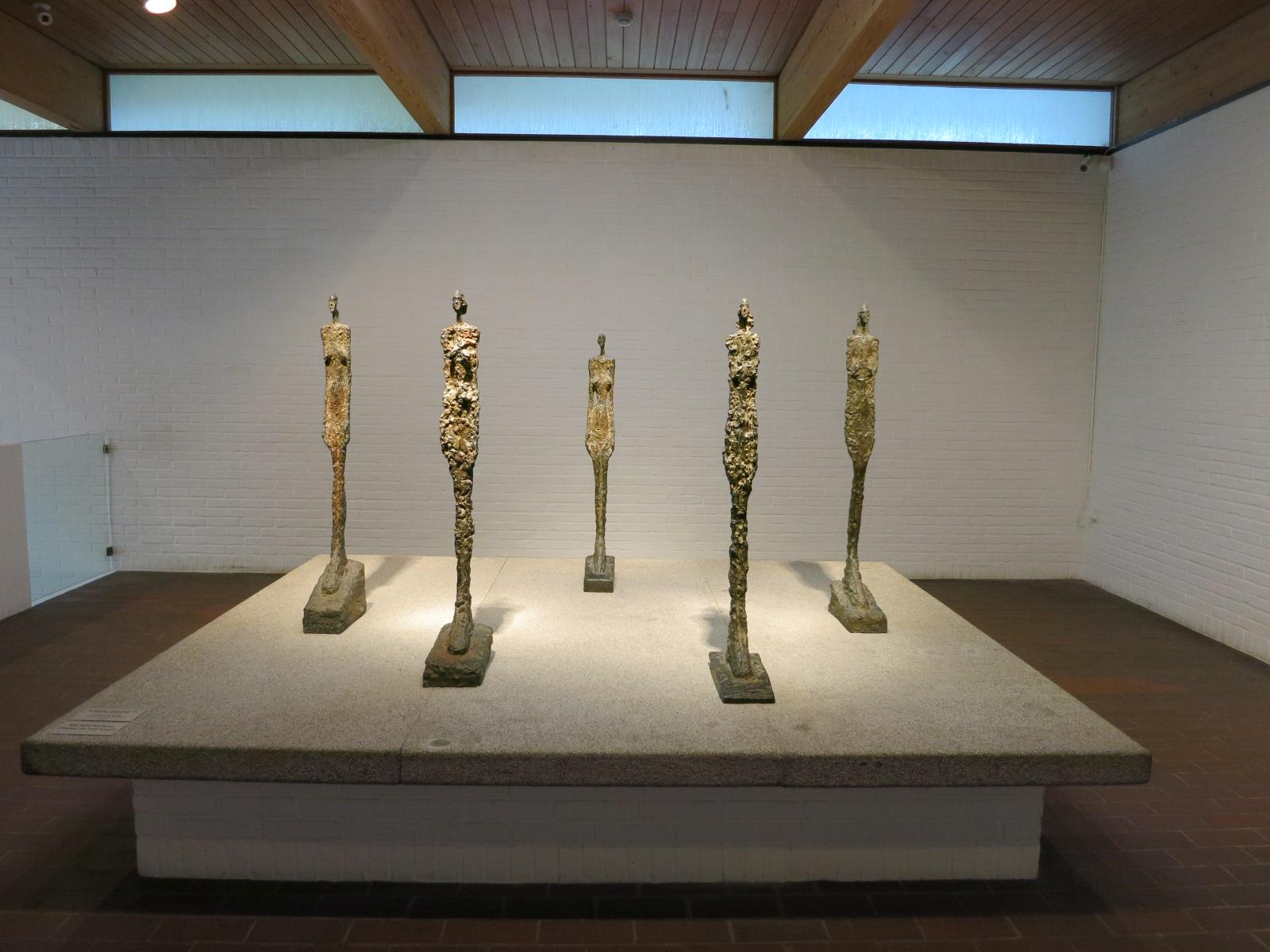 Louisiana Museum of Modern Art, Humlebaek, Denmark. Alberto Giacometti's 'Femmes de Venise' 1956