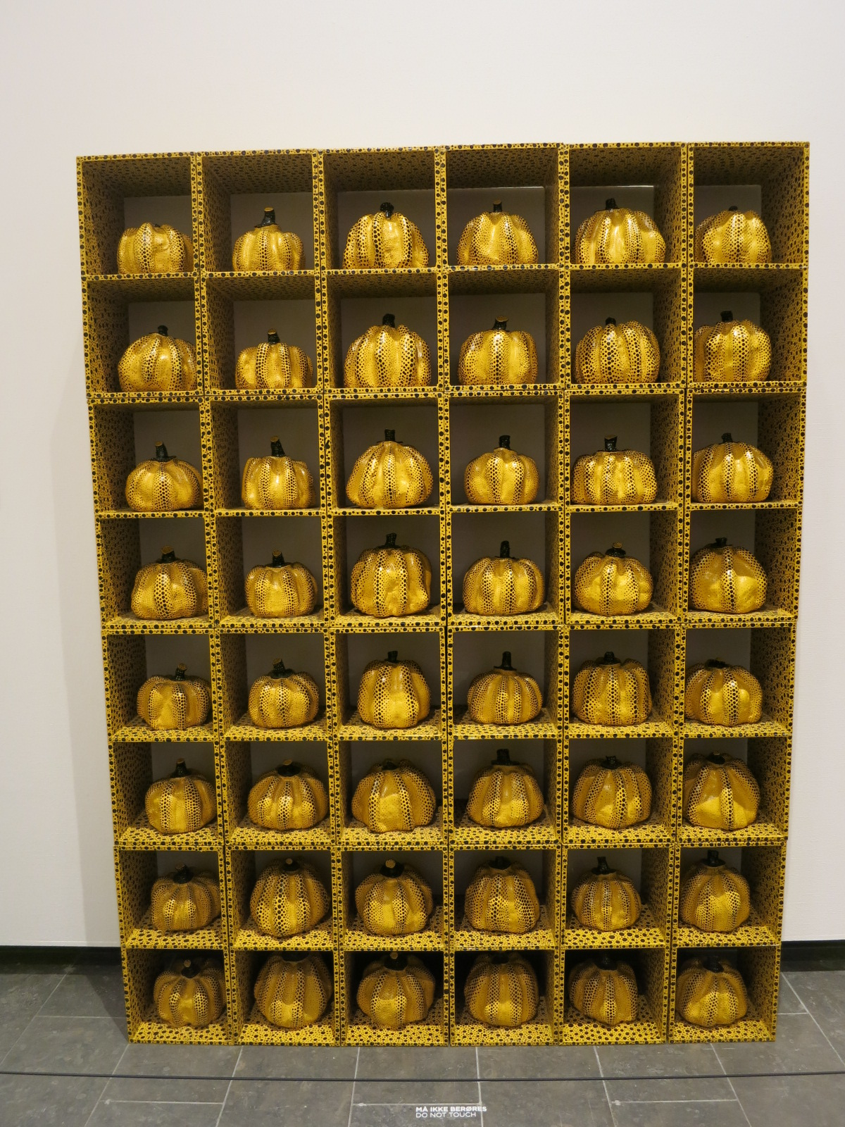 Yayoi Kusama's 1980s works in the In Infinity Retrospective at the Louisiana Museum of Modern Art, Denmark 2015. 'Pumpkin Night' 1985
