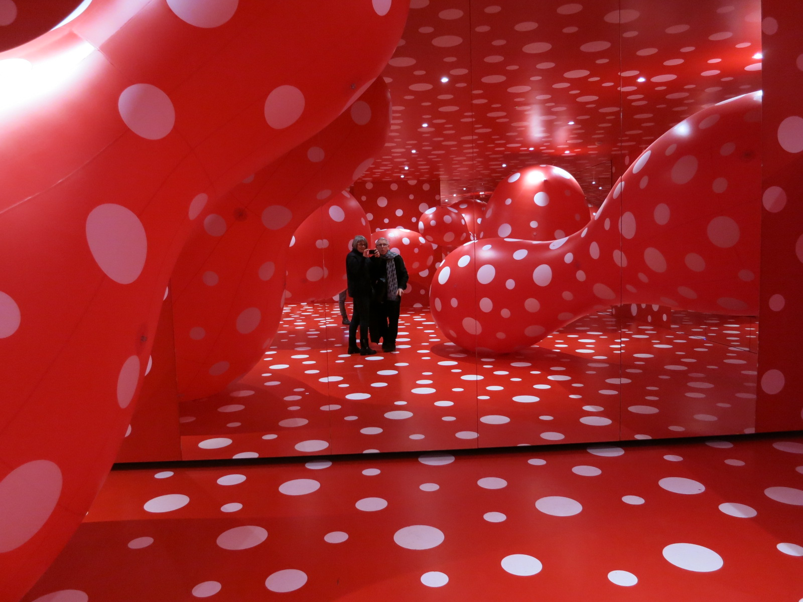 Yayoi Kusama's 1980s works in the In Infinity Retrospective at the Louisiana Museum of Modern Art, Denmark 2015.