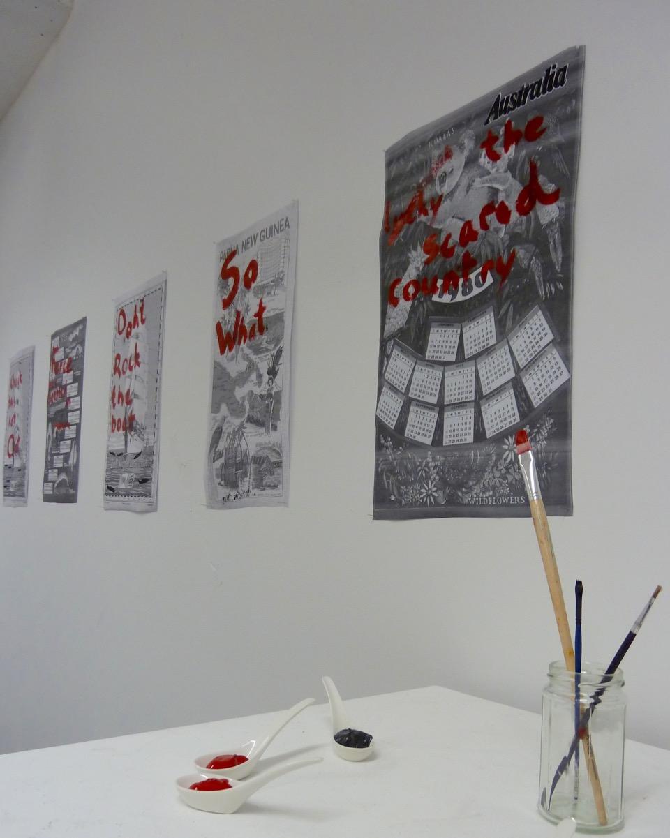 Christine Wiltshier's 'Hit & Miss' Installation.