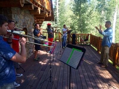 Mountain Light Music Festival: Trombone Summit Photo credit: baylortrombones.com