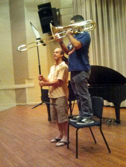 Northwestern University: Trombone Master Class Photo credit: Luis Fred / trombone.net