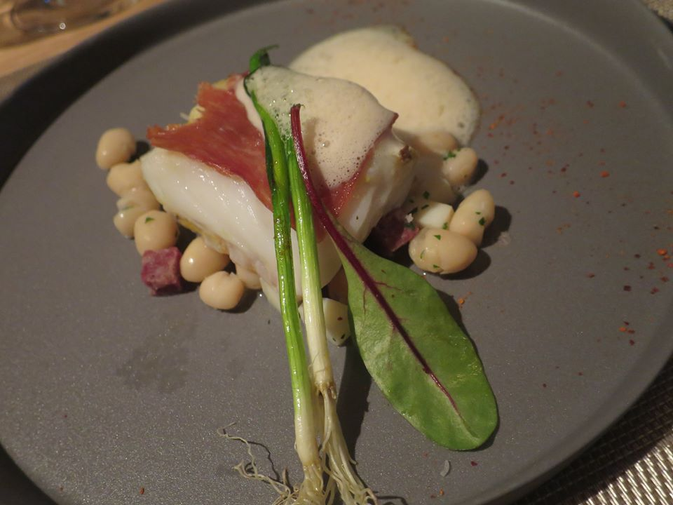 7. Atlantic silver cod, Bellota ham, White bean 'pochas, lemon emulsion.jpg