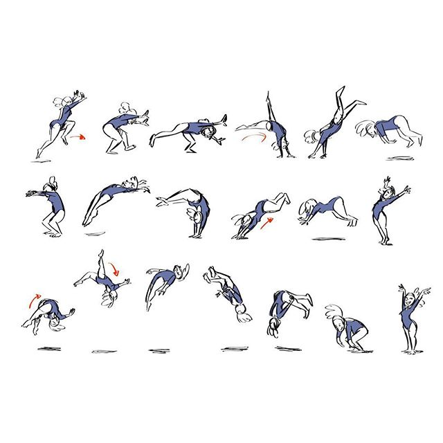 Been doing quick gesture motion studies as my warm up this week. Katelyn Ohashi's floor routine is flawless and full of joy!