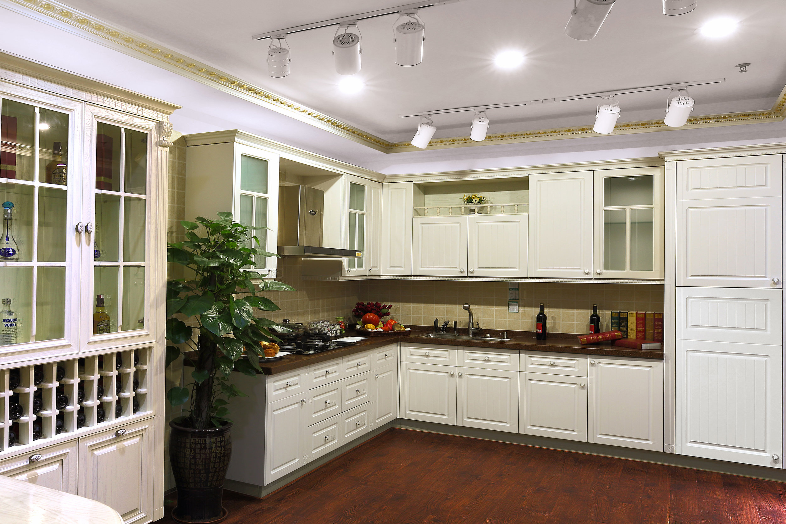 Novolink Kitchen with Warm White LED Recessed Lights