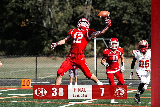 Total beat down in Redmen Country today #redmen #hillswest #win #biggerhearts