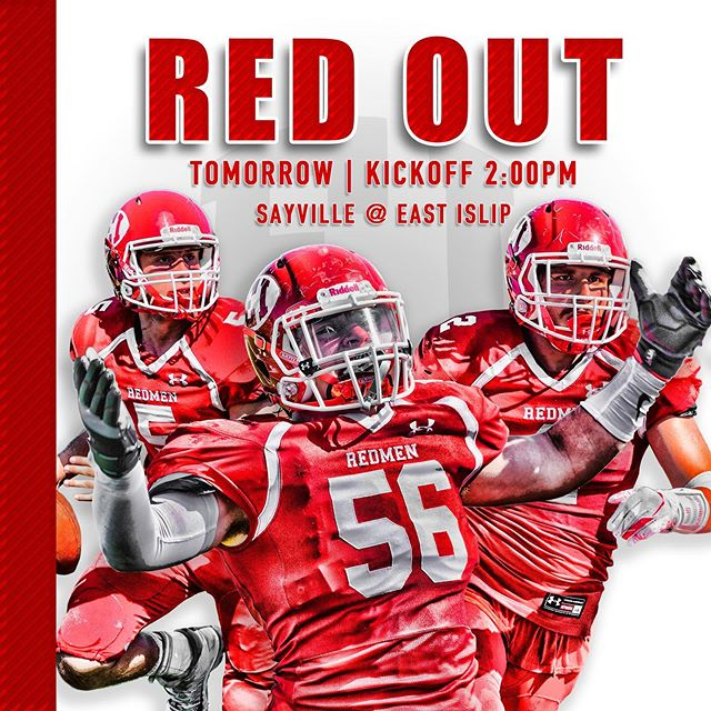 Spread the word... #redmen #redout #sayville #biggerhearts