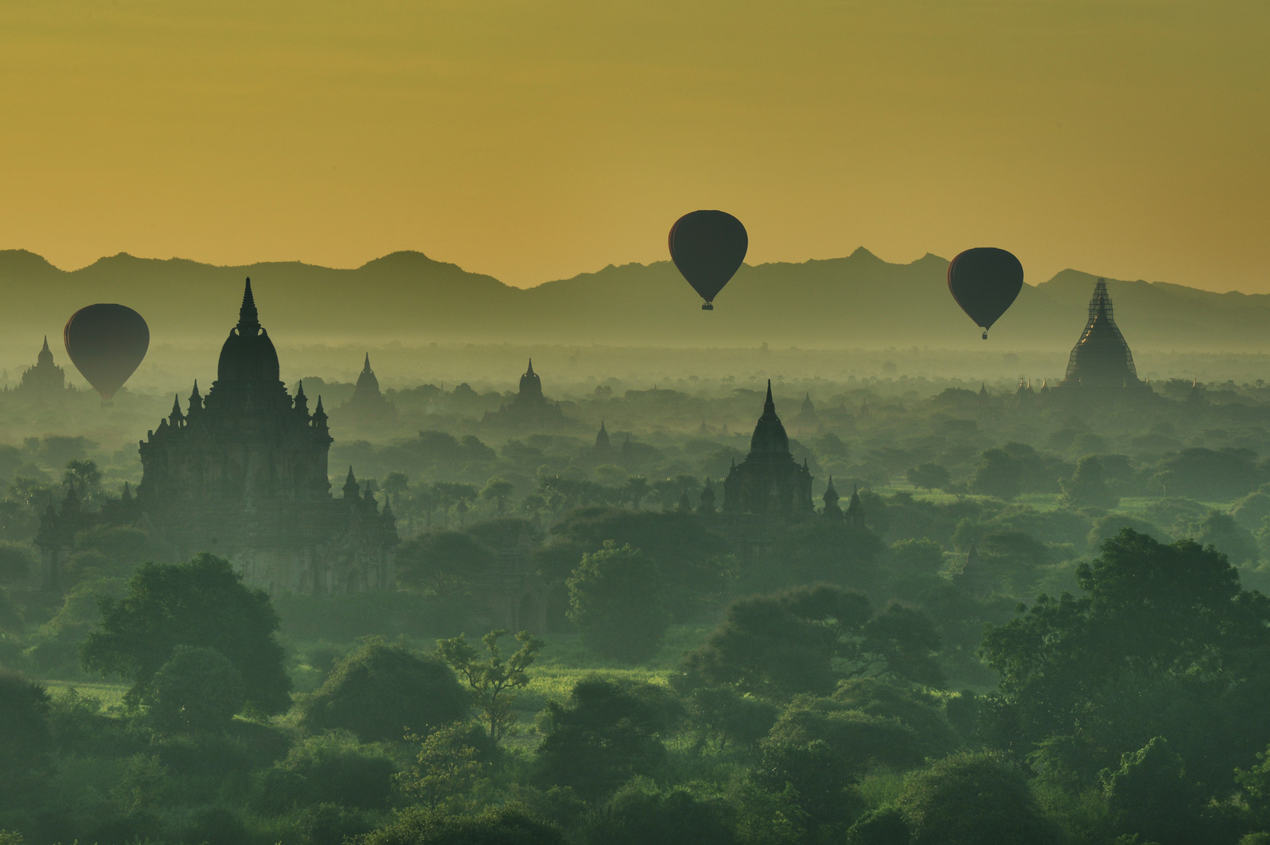 Bagan Sunrise  by Mirjam Evers