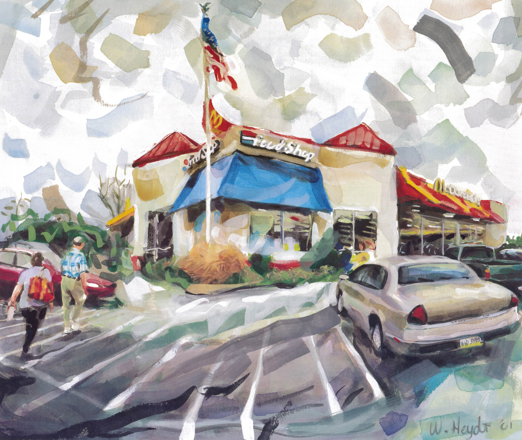 An-All-American-rest-stop-welcomes-motorists,-Rt-95,-North-Carolina.-21-x-50cm.jpg