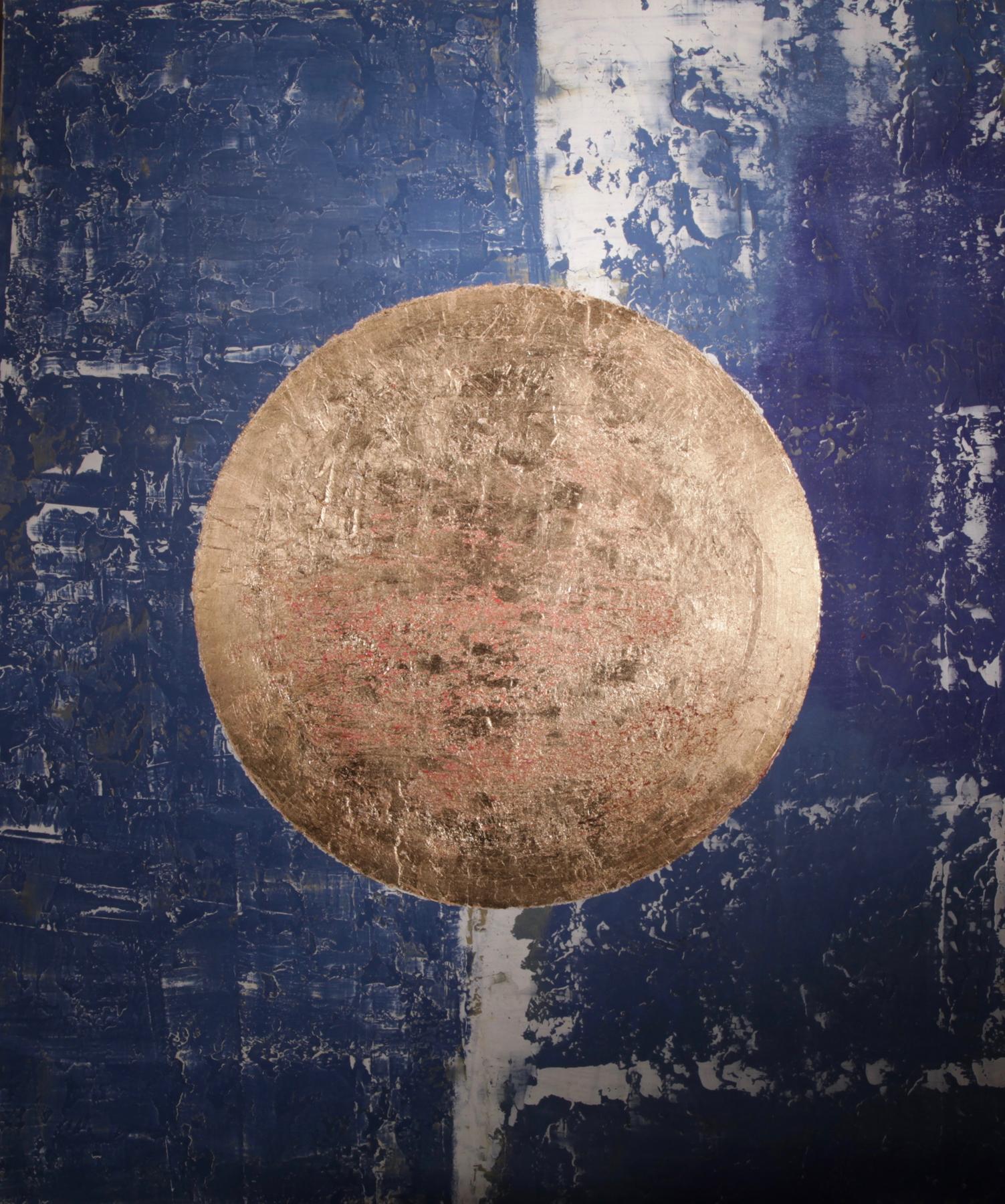 ARTI NYC - Matara, 95x140, Oil cement and gold leaf, 2016.jpg